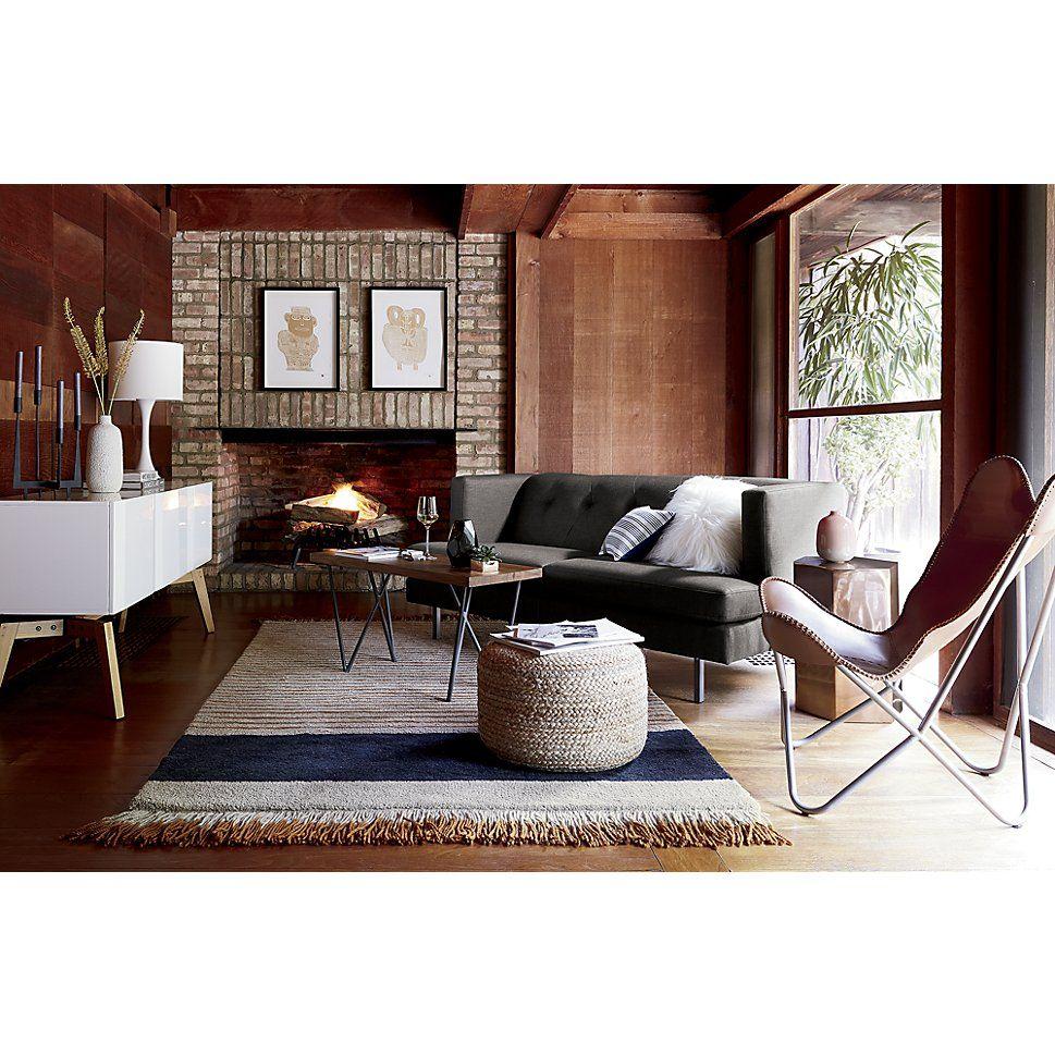 camel pinstripe rug CB2 INTD inspirations Pinterest