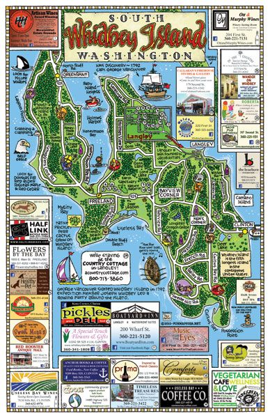 Whidbey Island Map Fun Maps USA   South Whidbey Island, Washington | Write | Whidbey  Whidbey Island Map