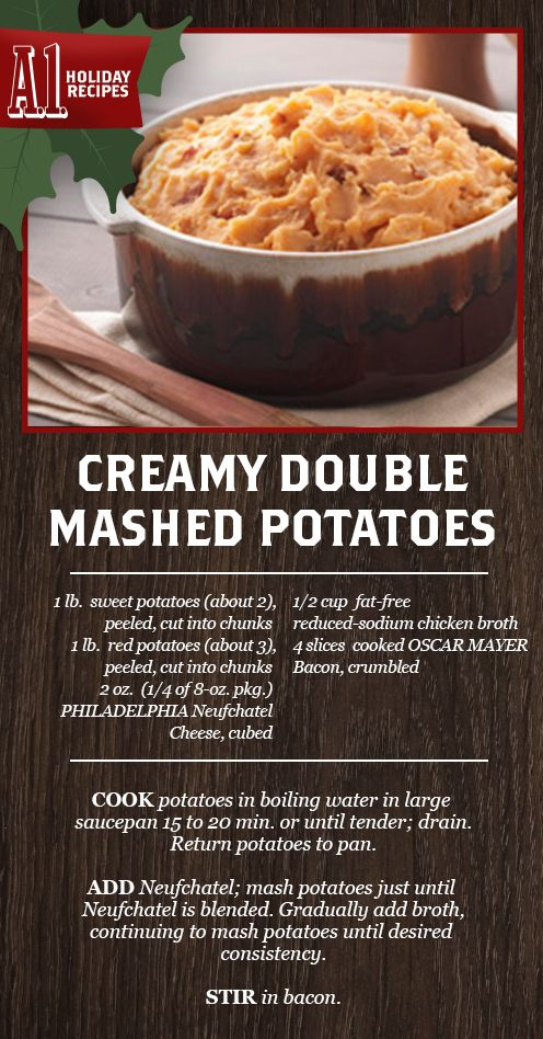 If double mashed potatoes means double the flavor, why stop there? Triple it with a hearty splash of A.1 Thick and Hearty. Mmm-Mmm-Mmm.