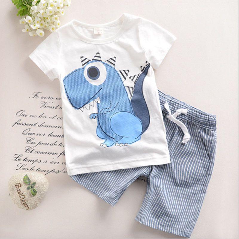 1b97018f1  4.86 - Toddler Kid Baby Boys Cartoon Printing T-Shirt Short Pants ...