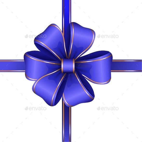 Blue Gift Bow With Ribbon Isolated Vector Gift Bows Ribbon Bows Alcohol Ink Crafts