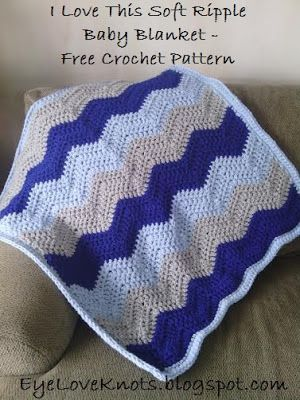 I Love This Soft Ripple Baby Blanket Free Crochet Pattern Free