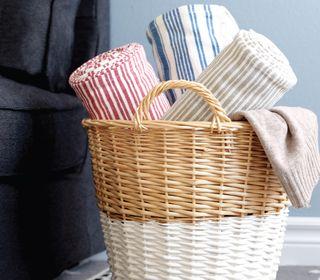 How To Dip Dye Wicker Baskets Wicker Baskets Wicker Painted