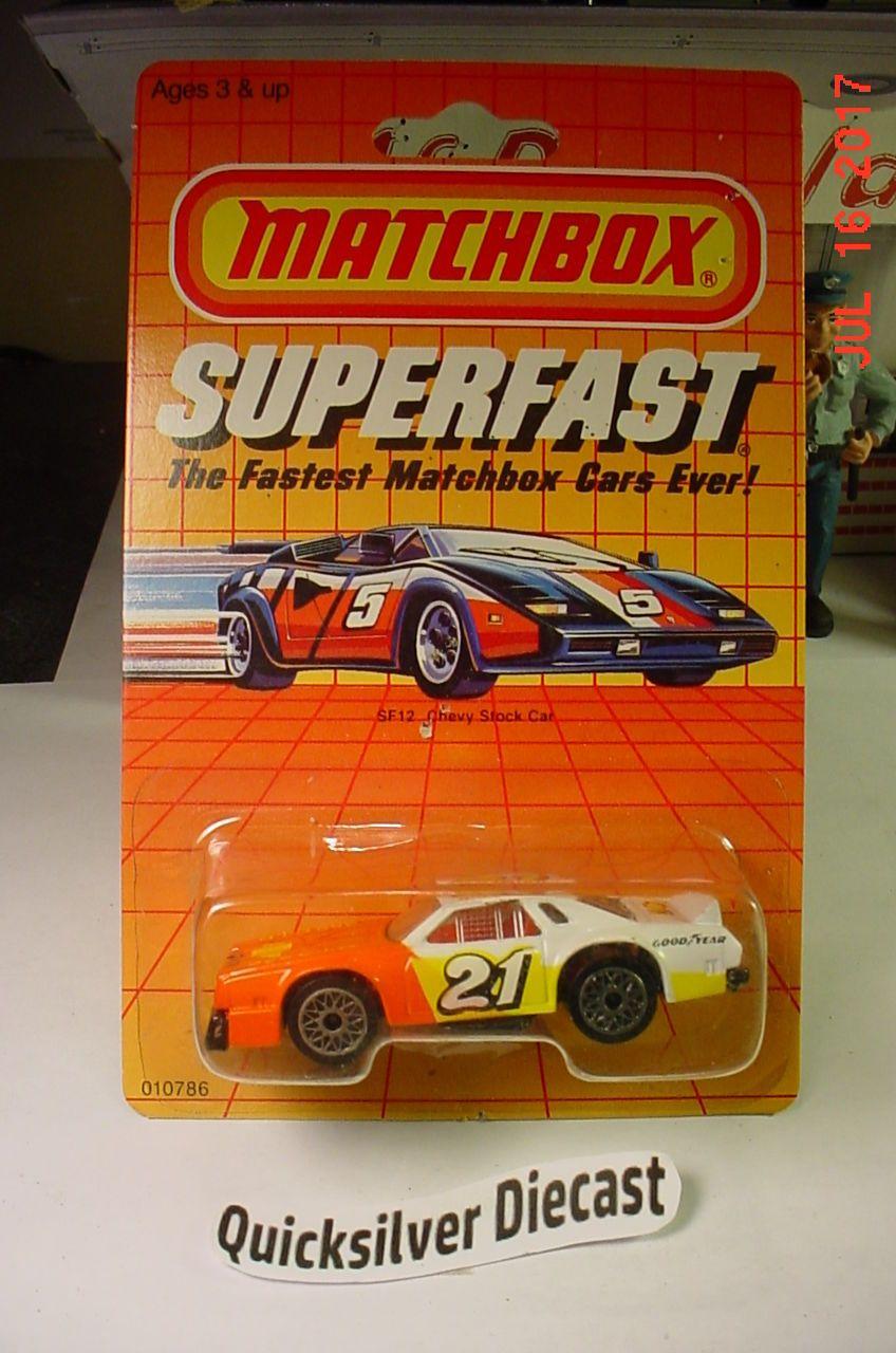 Matchbox Chevy Stock Car Chevelle Laguna White 1985 SF12
