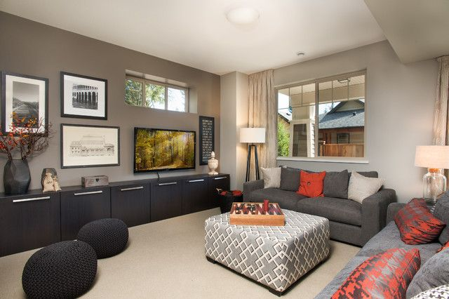 ikea-besta-Family-Room-Contemporary-with-basement-beige-wall-brown.jpg 640×426 pixels