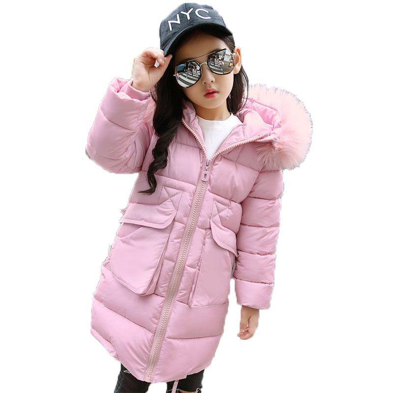 15dc4fabc 2018 Children Winter Cotton Padded Jackets Girls Parka Coats Kids ...