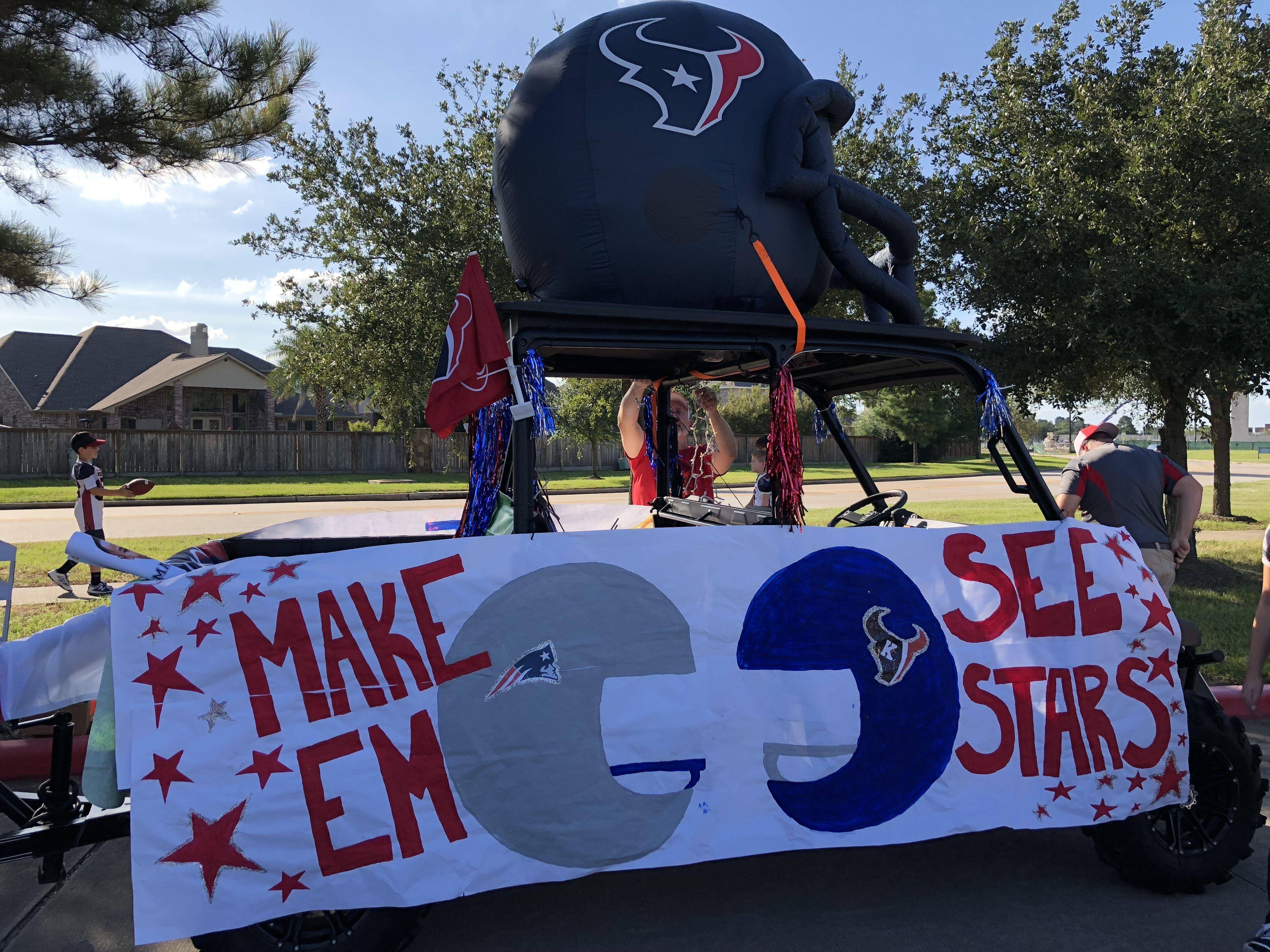 Football Banner Make Em See Stars Texans