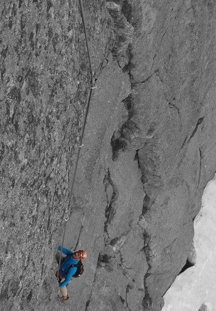 Punta Claudio, Presanella-Gruppe Neue Route: Freitag, 13. September 2013 - Nemesi della Nemesis 6b A0 (6c)