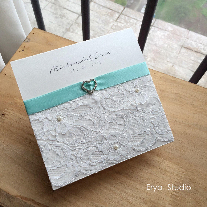 luxury lace invitation customized wedding invitation handmade card lilac satin ribbon invitation with - Customized Wedding Invitations