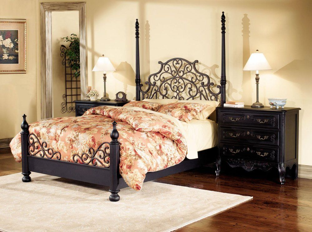 Bedroom Furniture Set In Antique Black Fun Stuff Pinterest Classy Antique Black Bedroom Furniture