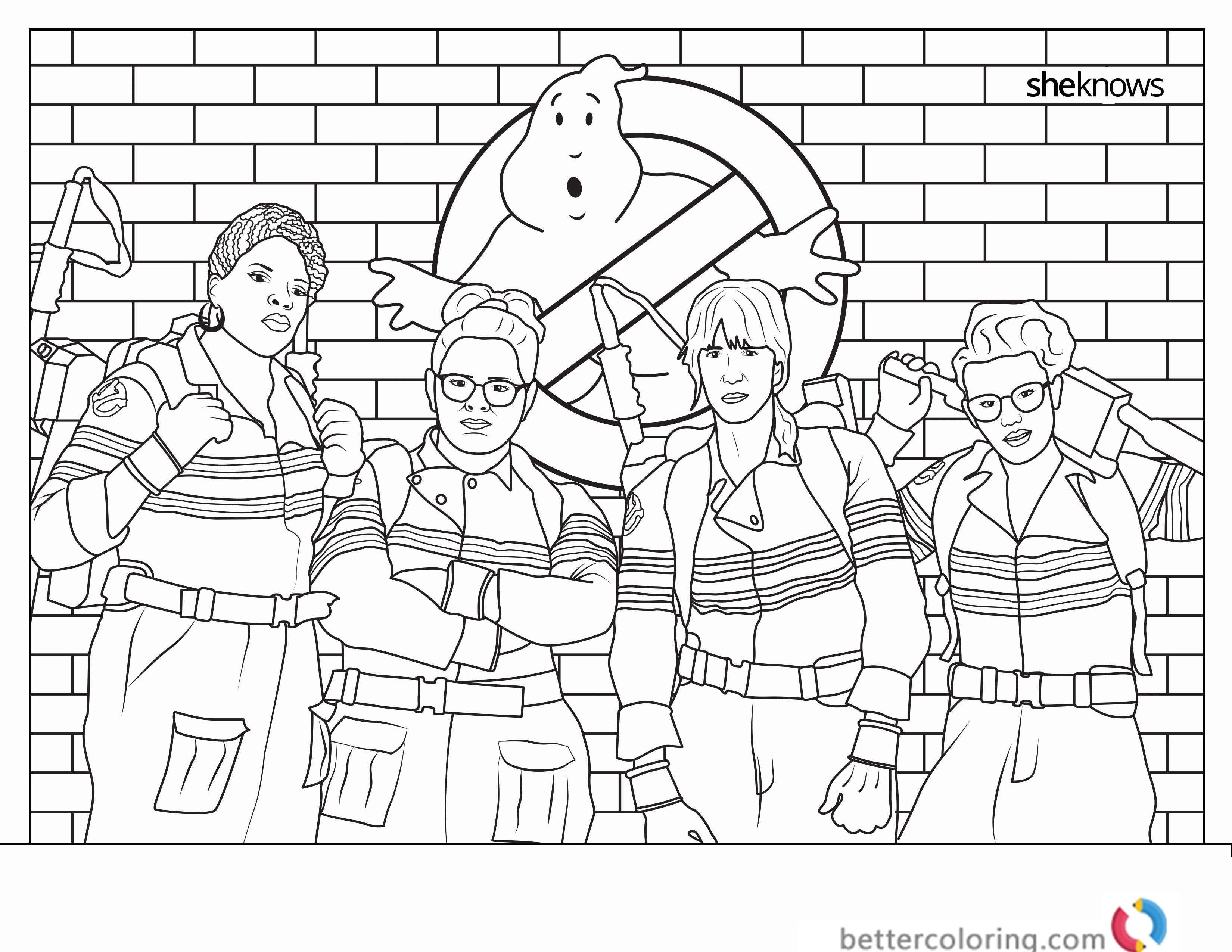 Ghostbusters Coloring Pages 06 Ghostbusters party