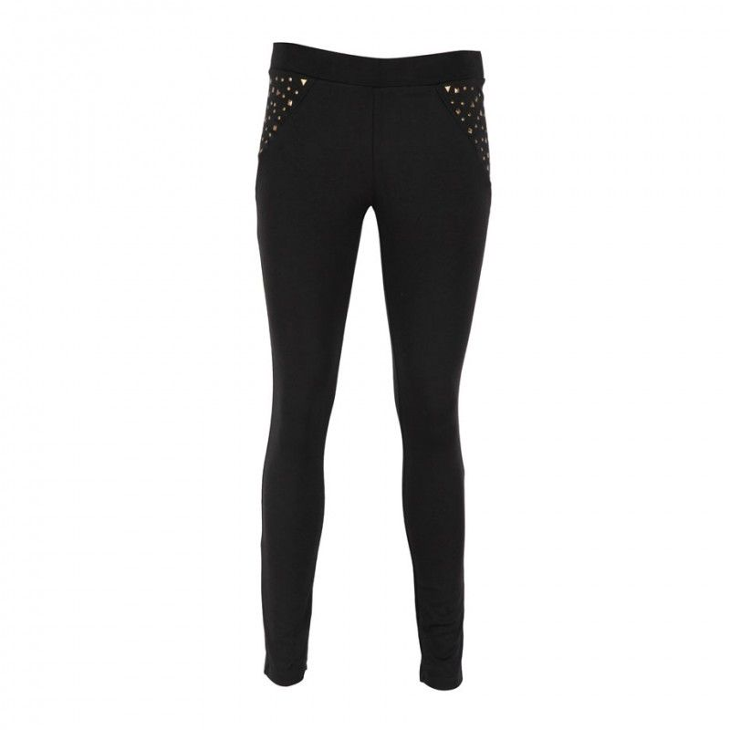 Leggins con Remaches - ONE STEP UP #cityrock #tendencia #gold #black #skinny #mujer #siman