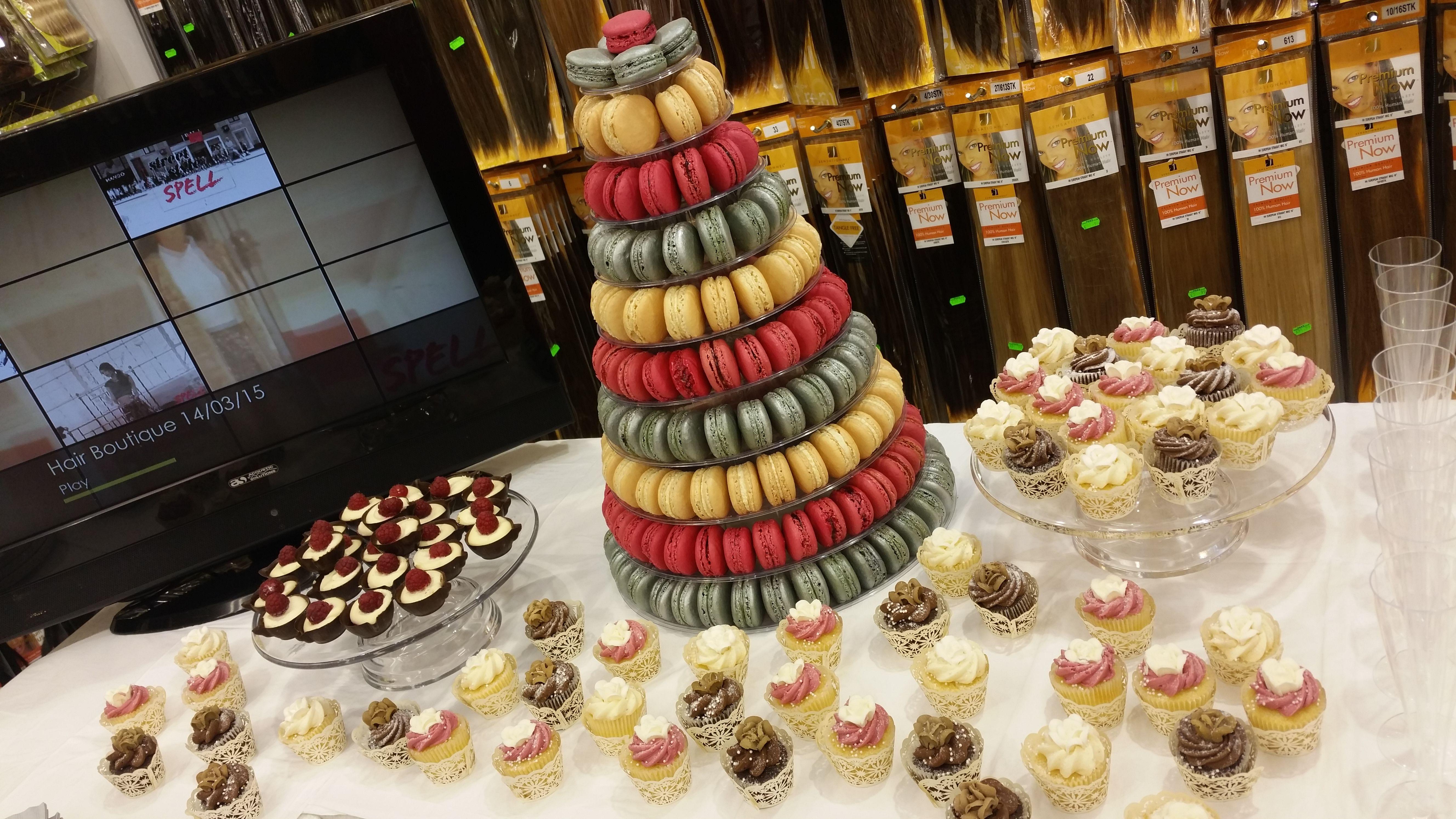 French macaroon tower personalised macaroons cake