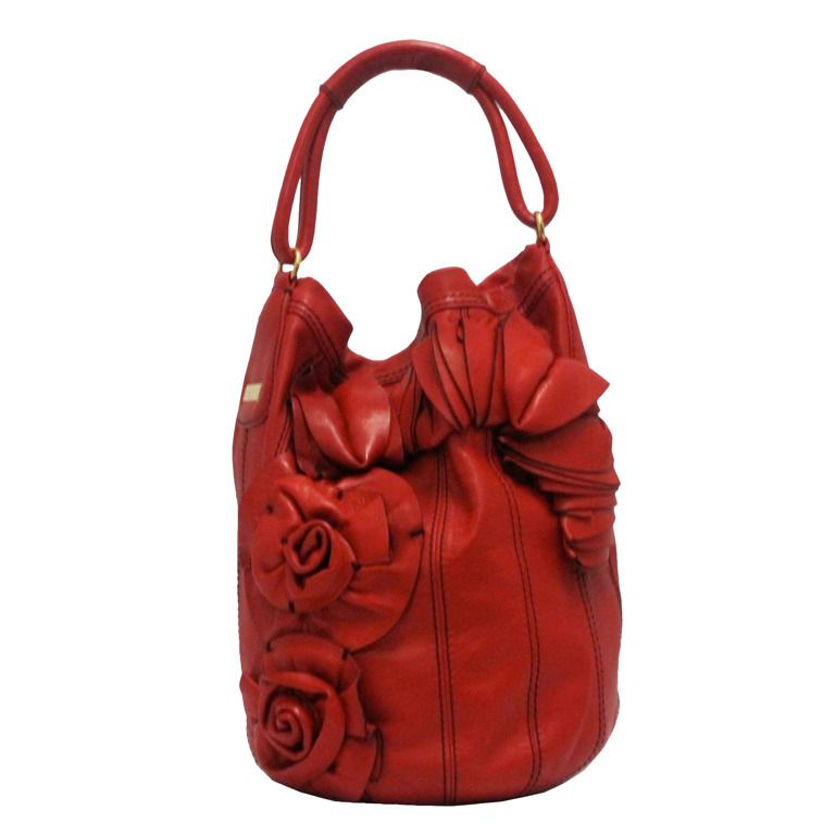 Valentino Leather Floret Bucket Bag From A Collection Of Rare Vintage Handbags And Purses At Http Www 1stdibs Com Fashion Bags Valentino Leather Bucket Bag