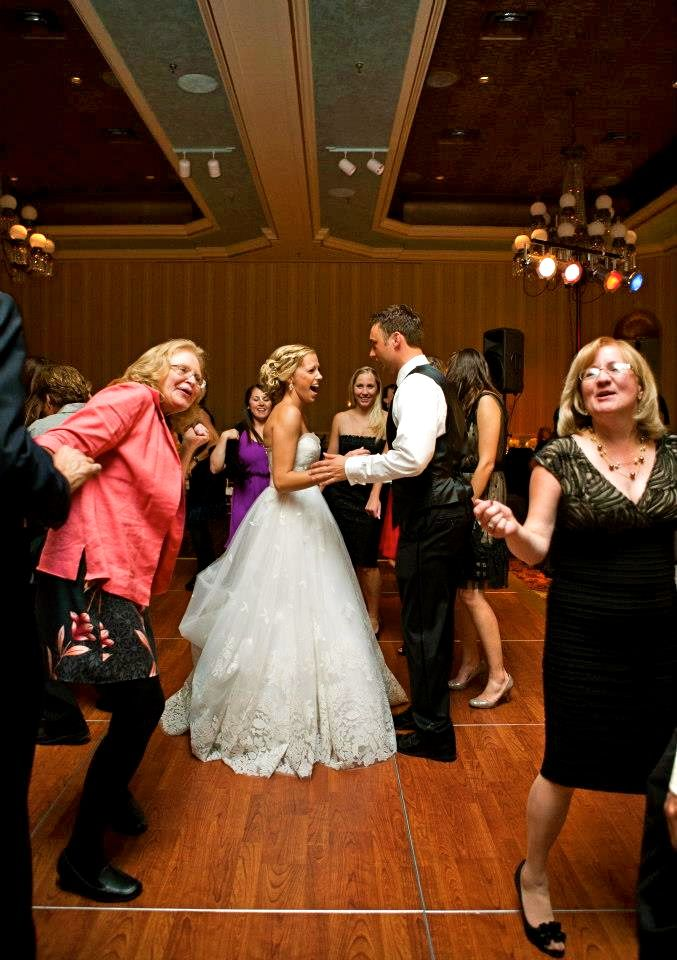 nothing like the older generation to make a wedding fun