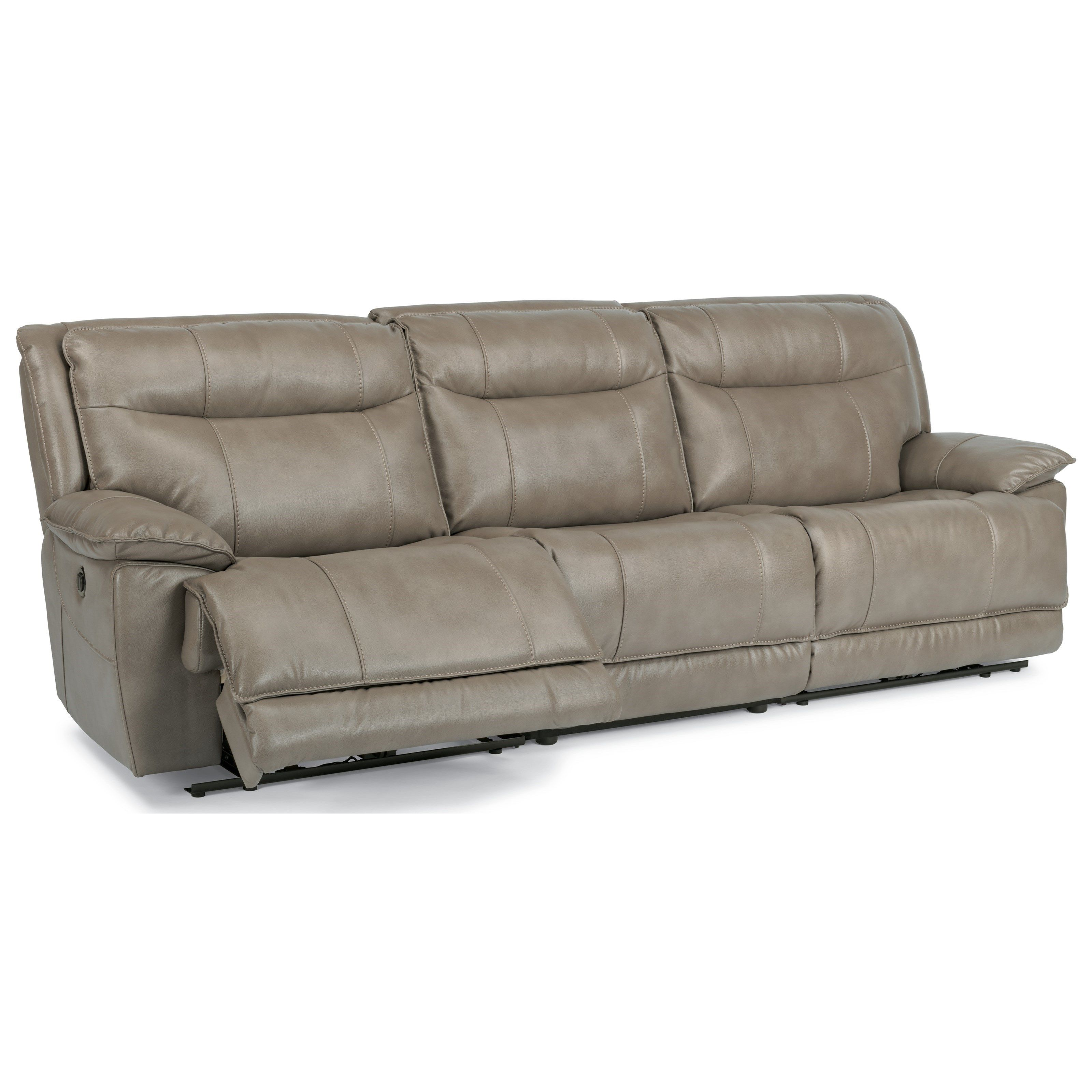 farmhouse leather reclining sectional