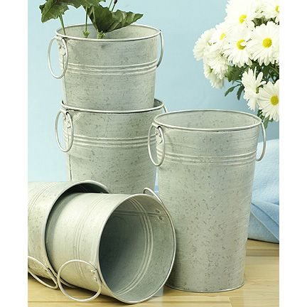 Galvanized Buckets For Wedding Flowers Galvanized Wedding Ideas