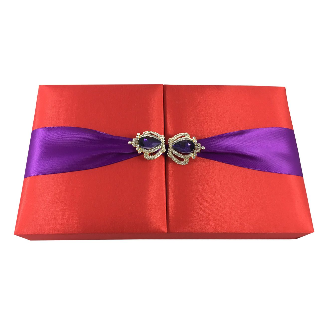 Luxury Chocolate Silk Invitation Box In Red | Luxury Wedding ...