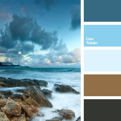dark brown and brown colors naturally complement the deep blue