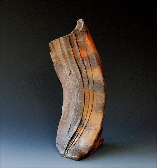 woodfired 55 ( vase ) 16 x 8 x 7 inches
