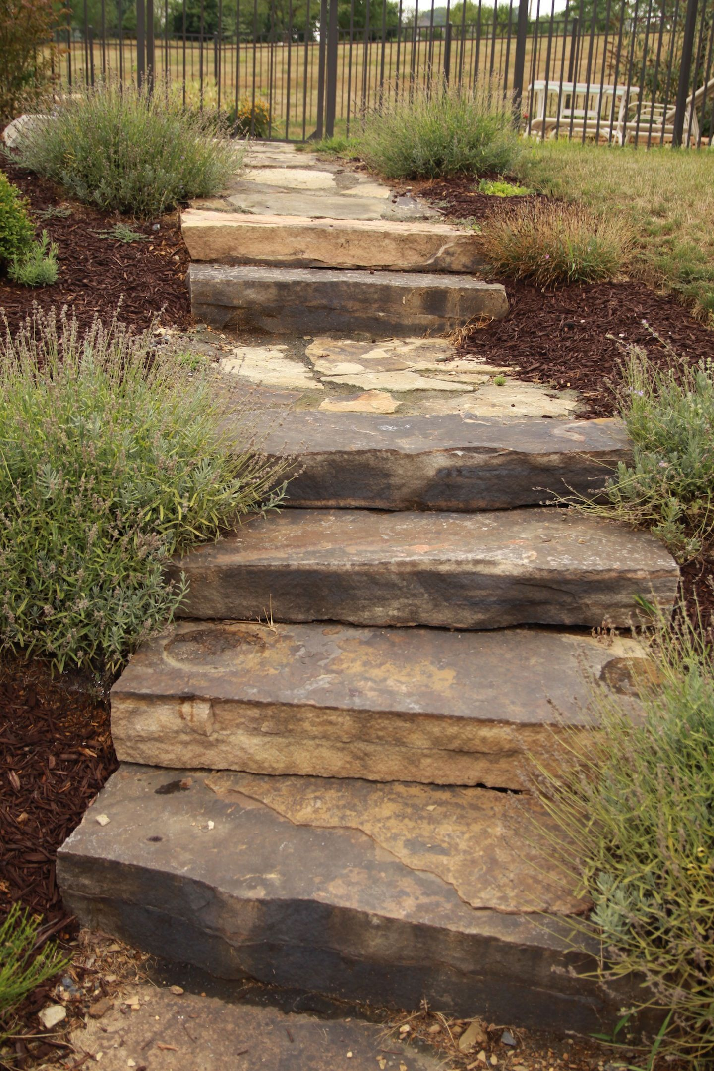 Image result for uphill sidewalk landscape ideas ... on Uphill Backyard Ideas  id=16040