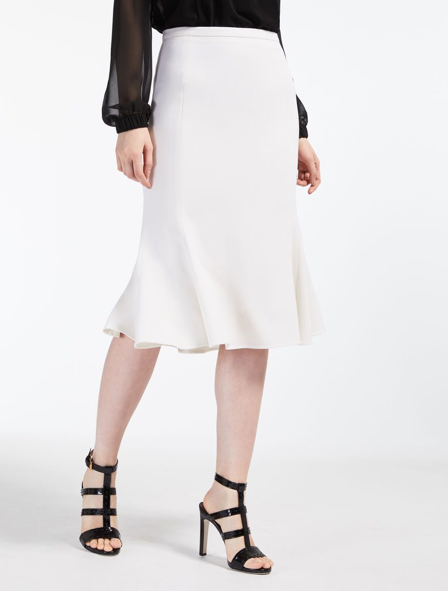 746f88cd0c Max Mara GIRALDA white: Wool crepe skirt. | .work in 2019 | Crepe ...