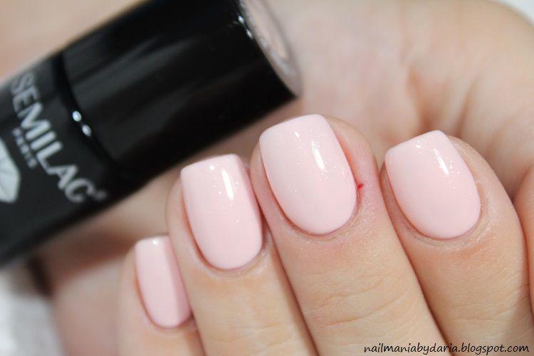 Stylizacja I Pielegnacja Paznokci Naturalnych Semilac 054 Pale Peach Glow Glow Nails Peach Nails Nails