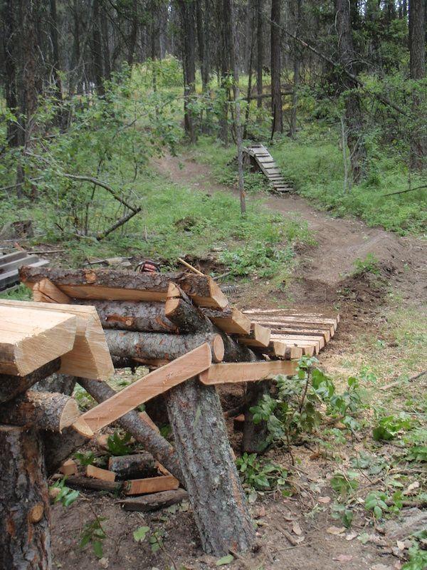 Trail Building Mountain Bike