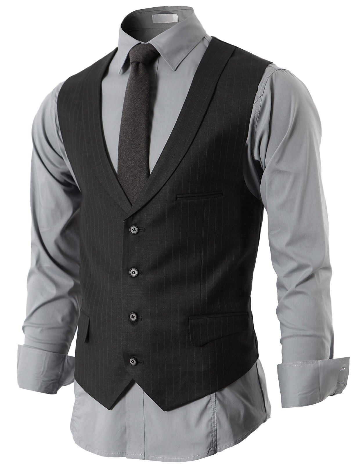 Mens Sleeveless Collared Shirt