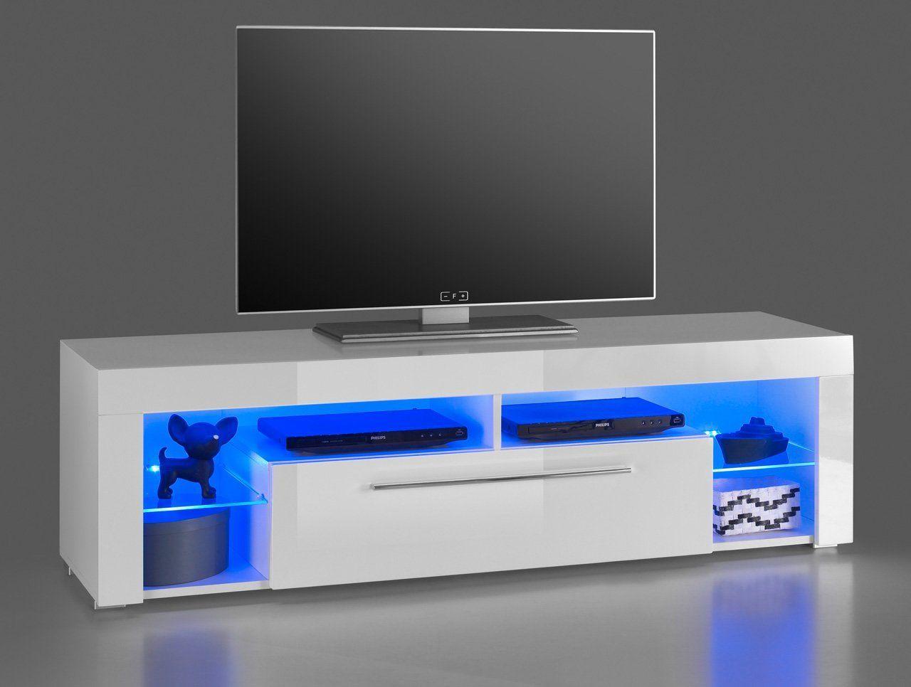 Lifestyle4living Lowboard Tv Schrank Tv Board Fernsehschrank Tv Sideboard Tv Unterschrank Tv Kommode Hochglanz Led Beleuc In 2020 Tv Stand Tv Lowboard Tv Shelf