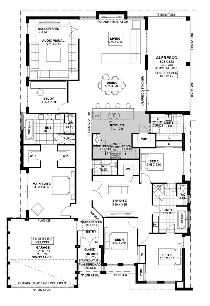 Today i have this family home with a study to show you for Residential floor plans