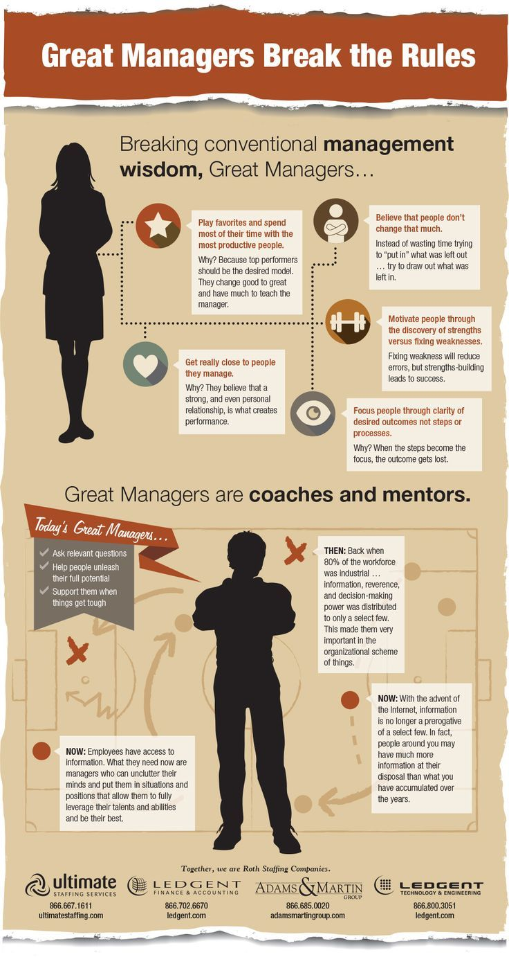 Great Managers Break the Rules Infographic management