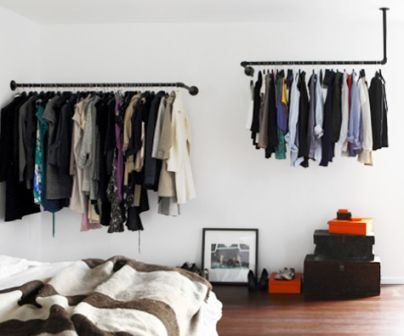 how to cover an open closet