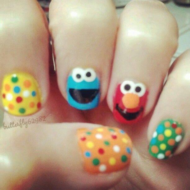 Sesame Street nails | Nails | Pinterest | Plaza sesamo, Sesamo y Plaza