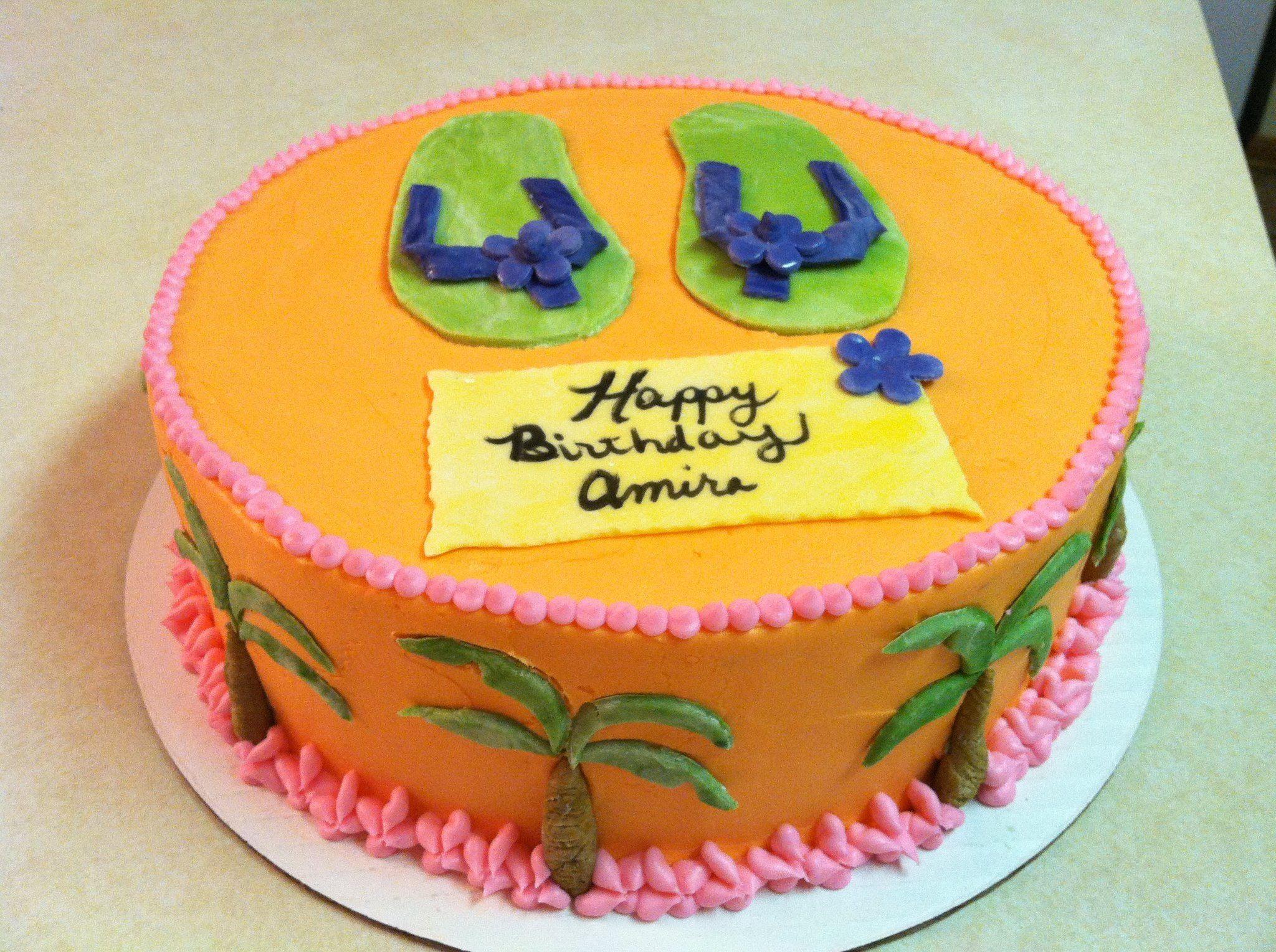 Flip Floppalm Tree Cake My Cakes Pinterest Palm Tree Cakes