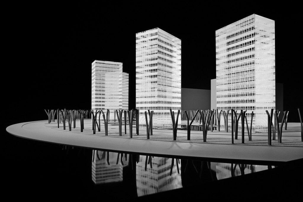 Hch model maqueta para balos y herreros del proyecto de 4 torres bioclim ticas en vitoria - Arquitectos en vitoria ...