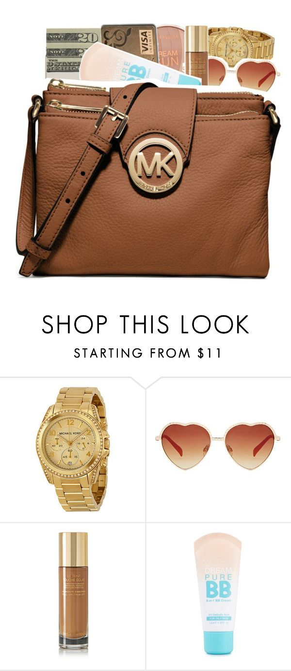 """"""": 340"""" by brobie ❤ liked on Polyvore featuring Jack Spade, Michael Kors, Yves Saint Laurent, Maybelline and MICHAEL Michael Kors"""