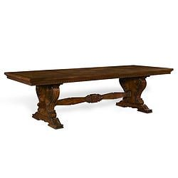 Pin By Pacific Heights Place On French Riviera Dining Table Trestle Dining Tables Furniture