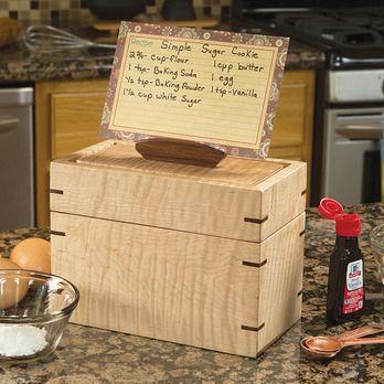 Recipe Card Box Woodworking Plan by Woodcraft Magazine