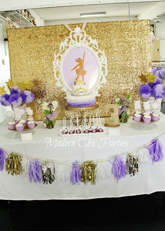 purple themed bridal shower%0A Purple and Gold Ballerina Party Printables