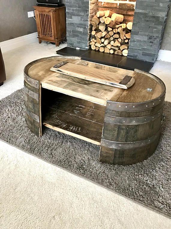 pin auf oak barrel coffee tables