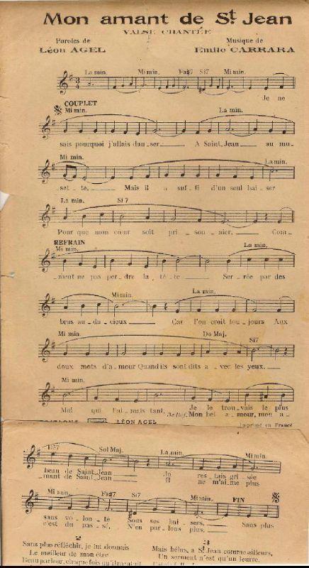 Mon Amant De St Jean : amant, Amant, St-Jean, Partition, Sheet, Music, Accordéon, Riche, Accordéon,, Partitions, Clarinette,, Musique