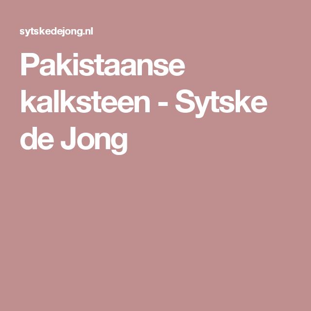 Pakistaanse kalksteen - Sytske de Jong