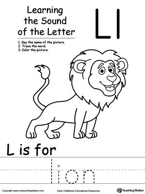 learning beginning letter sound l phonics worksheets phonics worksheets learning letters. Black Bedroom Furniture Sets. Home Design Ideas