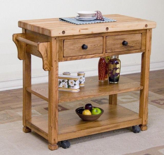 meuble vintage en cuisine : 30 photos d'îlots très stylés ... - Ilot Cuisine Sur Roulettes