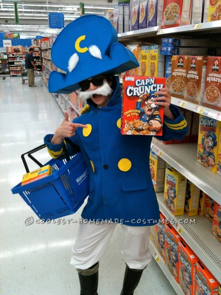 realistic capn crunch homemade halloween costume even shows you how to create the hat