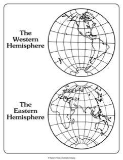 Map-Western Hemisphere and Eastern Hemisphere
