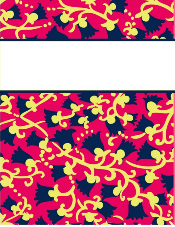 binder cover templates free