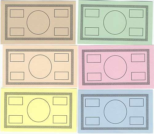 classroom bucks template - blank play money template have students design the