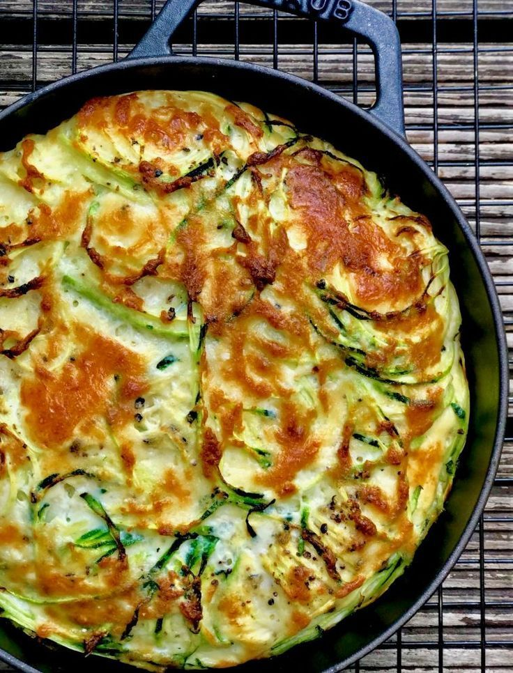 Zucchini-Parmesan-Frittata